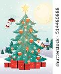 christmas tree vector... | Shutterstock .eps vector #514480888