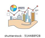flat line illustration design... | Shutterstock .eps vector #514488928