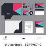 pink corporate identity... | Shutterstock .eps vector #514496740