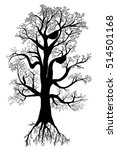 tree with roots | Shutterstock . vector #514501168