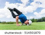 golfer aim line golf ball on... | Shutterstock . vector #514501870
