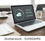 cloud storage upload interface... | Shutterstock . vector #514503490