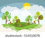 landscape design colored... | Shutterstock .eps vector #514510078