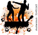 party   dancing couple on the... | Shutterstock .eps vector #51451165