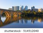 key bridge and rosslyn skyline...   Shutterstock . vector #514512040