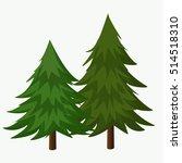 pine trees vector illustration... | Shutterstock .eps vector #514518310