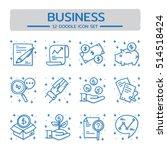 doodle vector line icons set of ... | Shutterstock .eps vector #514518424