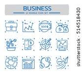 doodle vector line icons set of ... | Shutterstock .eps vector #514518430