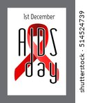 world aids day poster  card ... | Shutterstock .eps vector #514524739