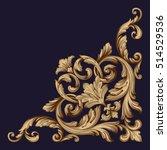 gold vintage baroque corner... | Shutterstock .eps vector #514529536