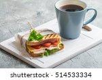 breakfast and lunch   sandwich... | Shutterstock . vector #514533334