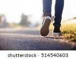 Stock photo close up of girl shoes walking 514540603