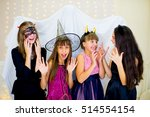 group of teenagers wearing... | Shutterstock . vector #514554154