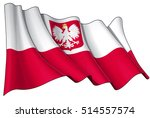 illustration of a waving polish ... | Shutterstock .eps vector #514557574