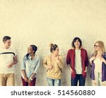 diversity students friends... | Shutterstock . vector #514560880