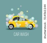 car wash vector illustration.... | Shutterstock .eps vector #514561144