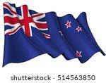 vector illustration of a waving ... | Shutterstock .eps vector #514563850