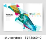 triangle abstract background.... | Shutterstock . vector #514566040
