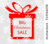 big sale  square banner in form ... | Shutterstock .eps vector #514566058