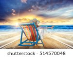 woman in chaise lounge relaxing ... | Shutterstock . vector #514570048