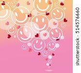 smile face heart eye pattern... | Shutterstock .eps vector #514576660