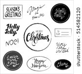 vector hand drawn christmas...   Shutterstock .eps vector #514582120