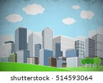 illustration of cityscape with... | Shutterstock . vector #514593064