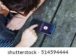 technology concept  woman using ... | Shutterstock . vector #514594444