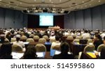 conference room  blur  | Shutterstock . vector #514595860