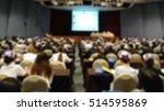 conference room  blur  | Shutterstock . vector #514595869