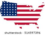 america flag in u.s.a map. the... | Shutterstock .eps vector #514597396