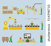 icons production lines of the... | Shutterstock .eps vector #514598710
