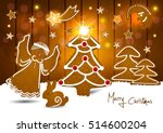 christmas. background with... | Shutterstock .eps vector #514600204