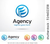 agency logo template design... | Shutterstock .eps vector #514602358