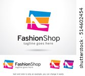fashion shop logo template... | Shutterstock .eps vector #514602454