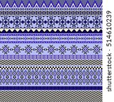 ethnic seamless pattern with... | Shutterstock .eps vector #514610239