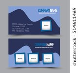 business card set template for... | Shutterstock .eps vector #514611469