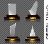 empty glass trophy awards... | Shutterstock .eps vector #514612243
