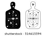 human man  set shooting range... | Shutterstock .eps vector #514615594