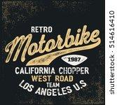 vintage bike rider with... | Shutterstock .eps vector #514616410