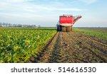 mechanized harvesting of sugar...   Shutterstock . vector #514616530
