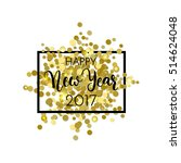 happy new year design. black... | Shutterstock .eps vector #514624048