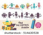 kids learning game. find the... | Shutterstock .eps vector #514630528
