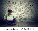 young man working on computer... | Shutterstock . vector #514632040