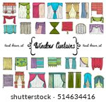 vector set with hand drawn... | Shutterstock .eps vector #514634416