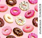 glazed donuts seamless | Shutterstock .eps vector #514636528