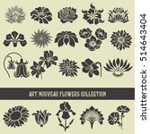set of floral elements and... | Shutterstock .eps vector #514643404