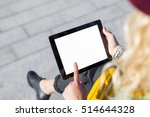 person sitting outside and... | Shutterstock . vector #514644328