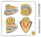 vector abstract logo basketball ... | Shutterstock .eps vector #514645288