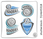 vector abstract logo handball... | Shutterstock .eps vector #514645318